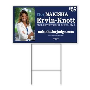 "Political / Yard Sign 18'' x 24"" - Double-Sided"